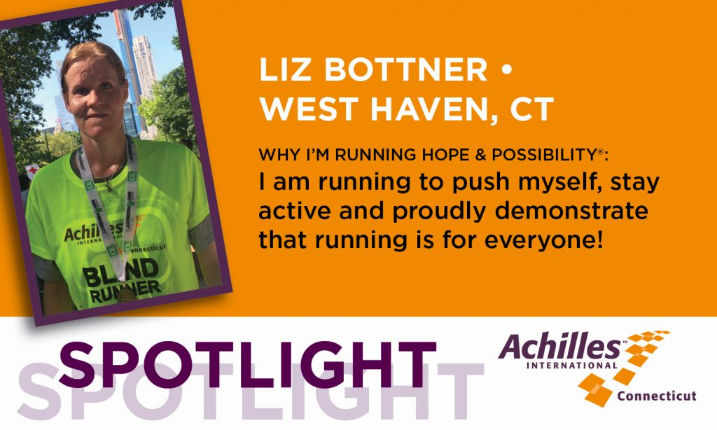 Liz Bottner of West Haven is running in the Hope & Possibility races to push herself, stay active and proudly demonstrate that running is for everyone!